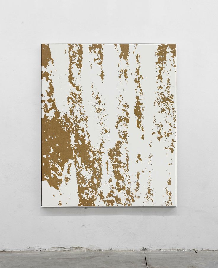 Pedro Matos_To make something that acted entheogenically  2016 Oil on unprimed cotton canvas, wood stretchers, wood frame 70 9/10 × 59 1/10 in 180 × 150 cm