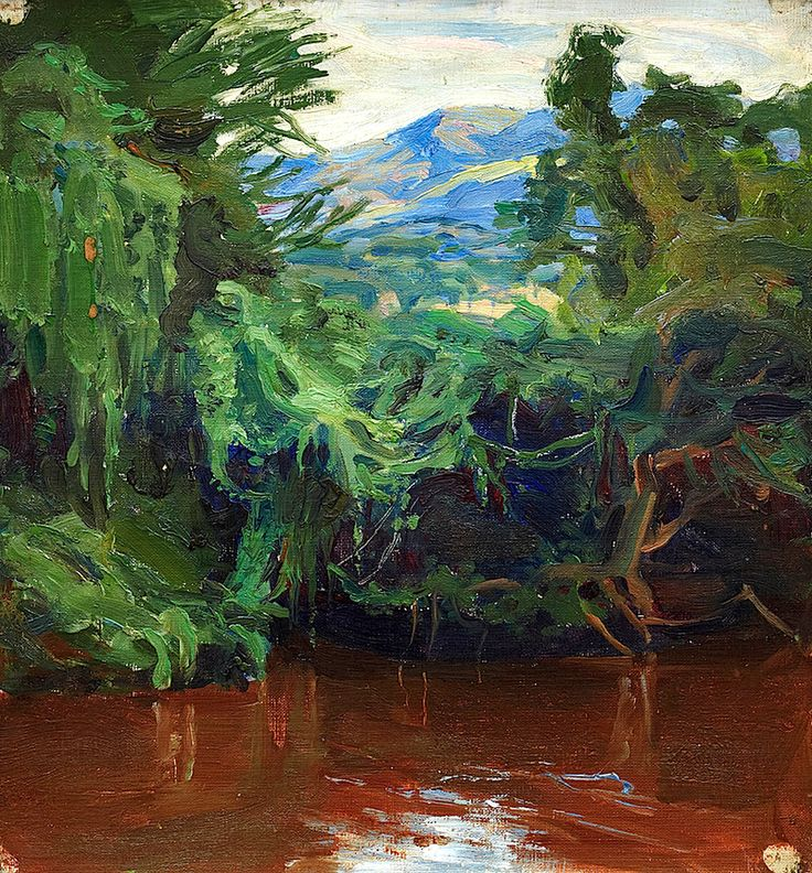 """""""African Landscape"""", Akseli Gallen-Kallela"""