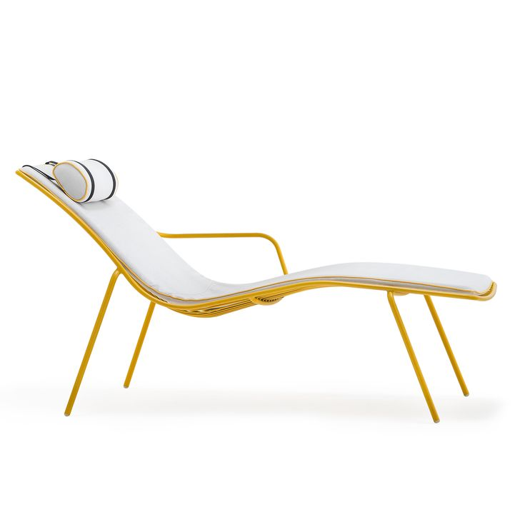 Chaise Longue Made Of Steel Tube To Ensure The Greatest Strength And  Durability. A Collection