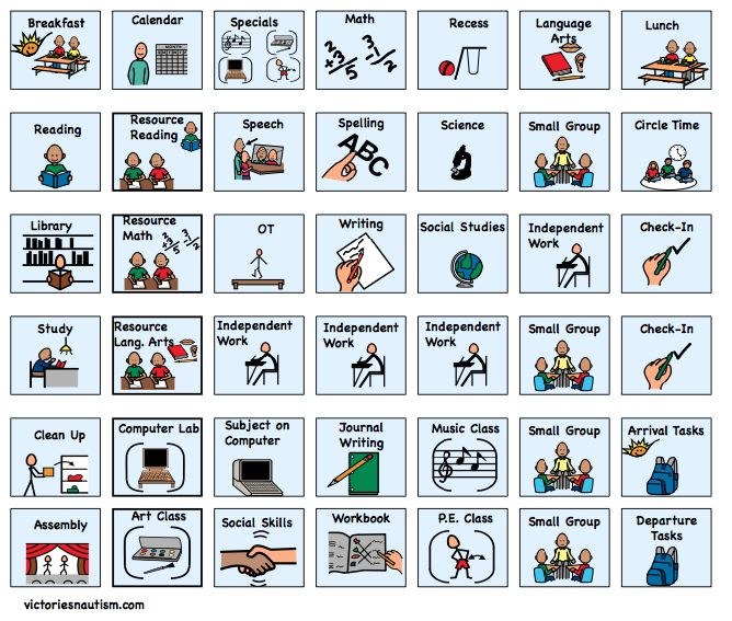 Schedule, Activity and Task Cards - Victories 'N Autism