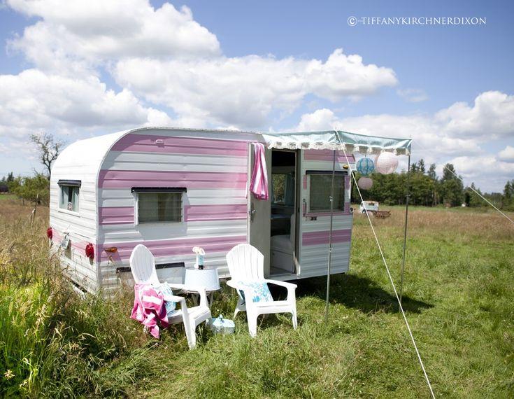 pink stripe camper