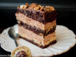 Tort Devine cu ciocolata si caramel - Lucky Cake