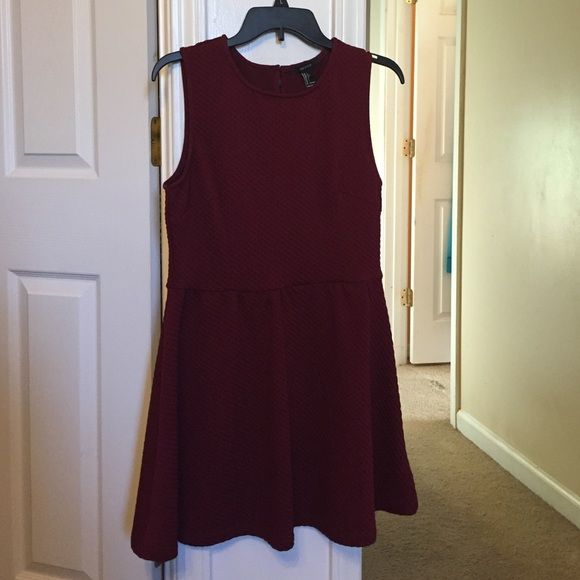 Maroon skater dress Maroon skater dress. Size Large. Forever21 Forever 21 Dresses Mini