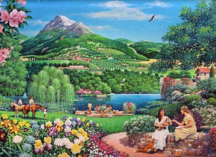 Chien, chat, etc… retrouverons-nous nos animaux de compagnie au Paradis ? 797aef43adc5ac466f5d534c188f9628--biblical-art-jehovah-s-witnesses