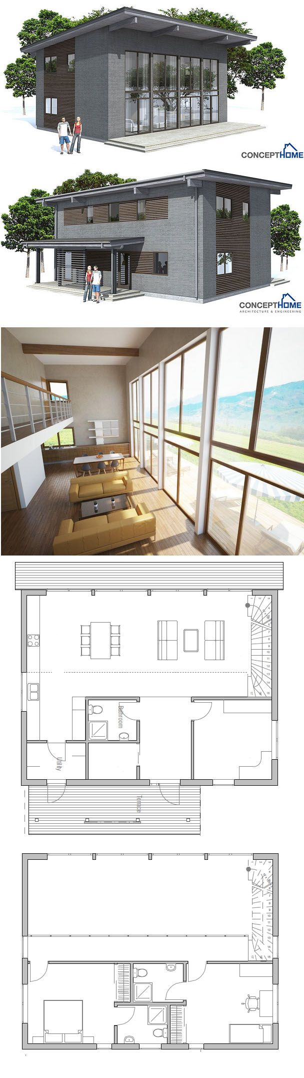Small House Plan 1735 best Architecture images