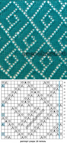 """patrón de radios 556 """"geometría de calado»    patrón de tejer con agujas directorio"""