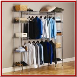 Fresh Basement Clothes Storage
