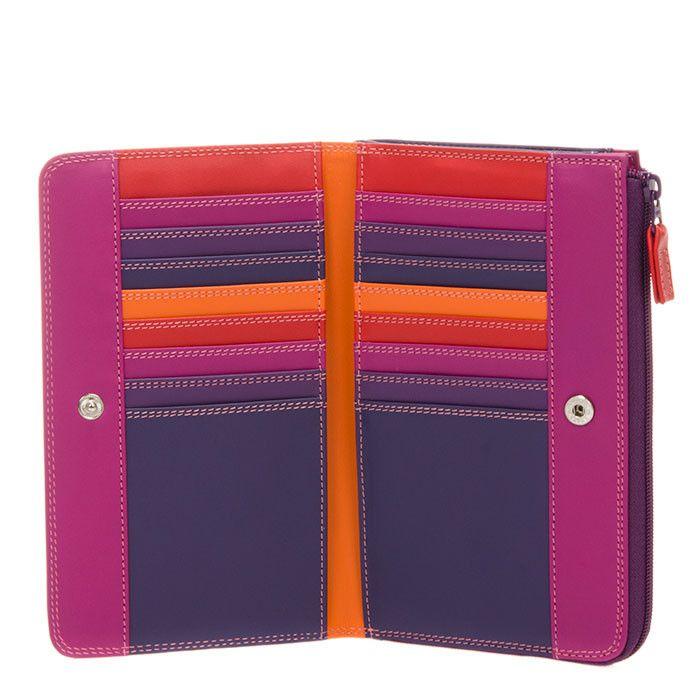 Leather Zip Around Wallet - Purple Impressions by VIDA VIDA DU0sNi4