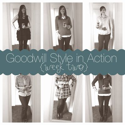 Calculating Blessings: 31 Days of Goodwill Style - Day 14 - Goodwill Style in Action - Week 2