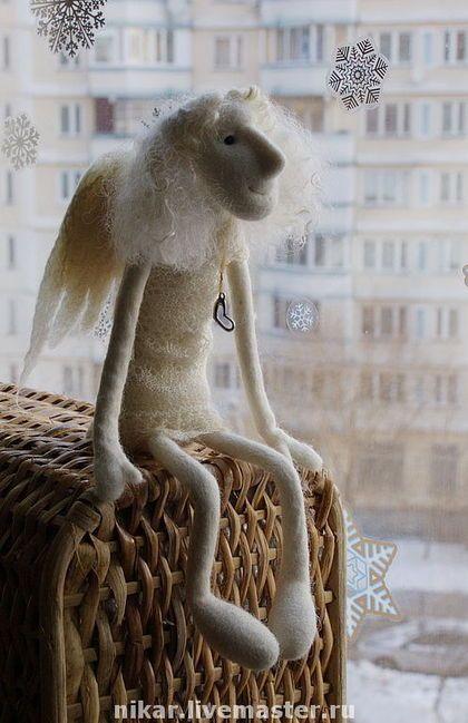 """Сказочные персонажи ручной работы. Заказать Ангел """"Нежность"""". Ника Радюк. Ярмарка Мастеров. Авторский ангел, коллекционная кукла"""
