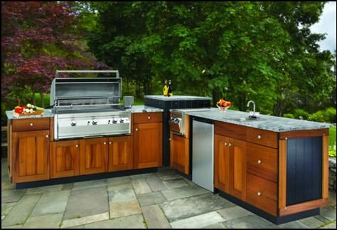 Outdoor Kitchen Cabinetry Constructed From A Marine Grade