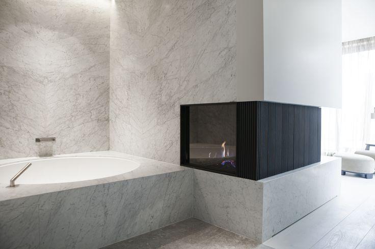 Byron & Jones Interiors - Bathroom - Marble - Fireplace