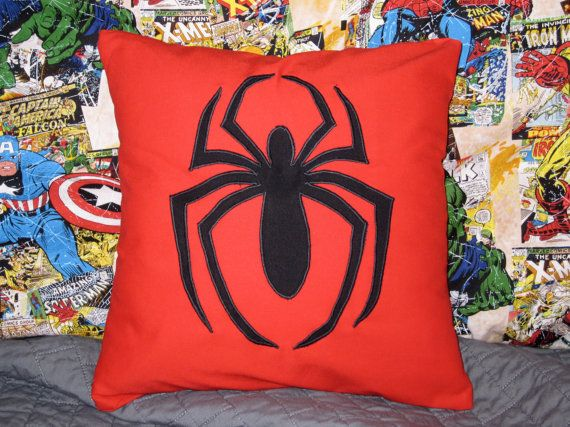 Hey, I found this really awesome Etsy listing at http://www.etsy.com/listing/153386770/spider-man-pillow-superhero-marvel
