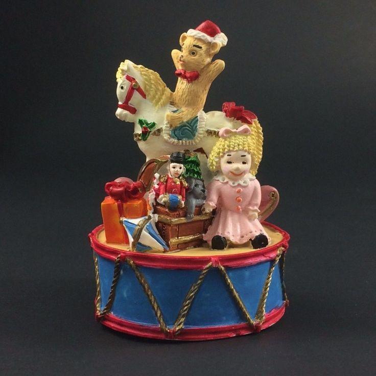 "San Francisco Music Box Company Christmas Toys Decoration Figure Plays Tunes 3"""