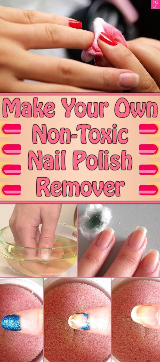 Machen Sie Ihren eigenen ungiftigen Nagellackentferner – #Beauty Tips & Remedies