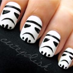 jennifer meyer heart necklace Storm Trooper nails nailart starwars  Nail Art