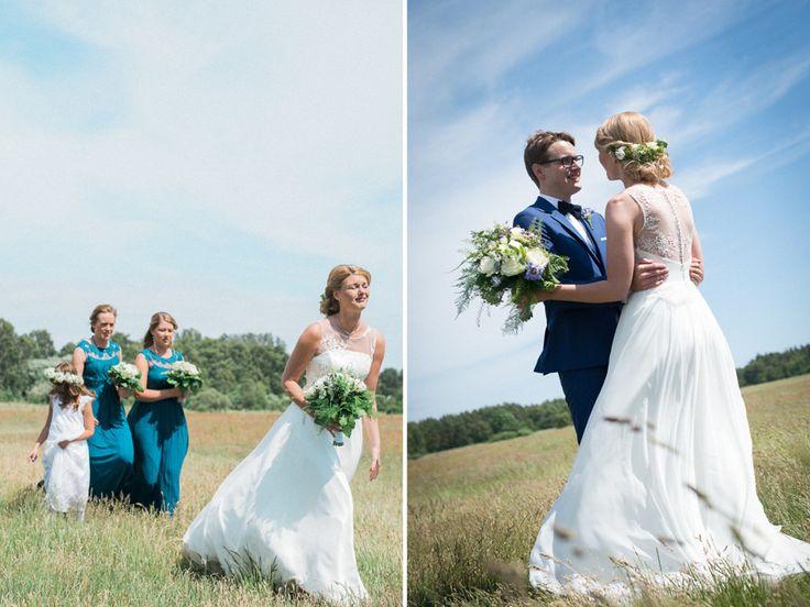 First look, weddingphotographer Rebecca Wallin