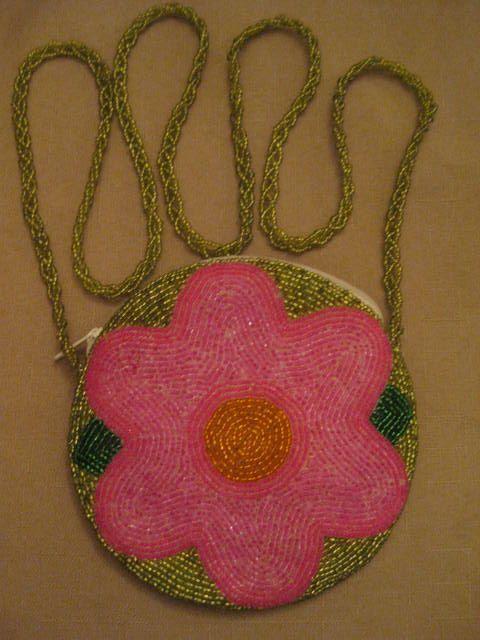 Un Worn C. Marie Bugle Beaded Handbag Pink by vtseredipityboutique
