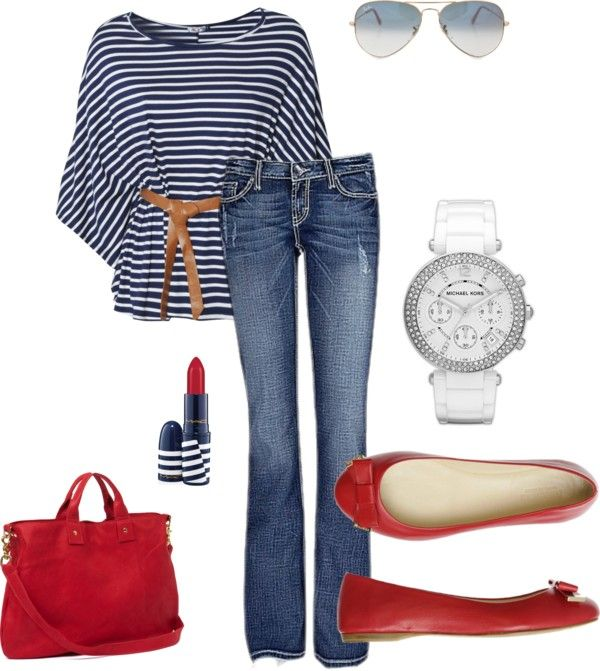 Marine style, created by neide-ramires on Polyvore