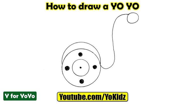 How to draw a YoYo  In this post, we are going to learn How to draw a YoYo step by step  Drawing by YoKidz  #YoKidz #Drawing #PencilDrawing #Generaldrawing #Like4like #Likeforlike #Share4share #Shareforshare #Draw #Blackandwhite #YoYo #DrawYoYo