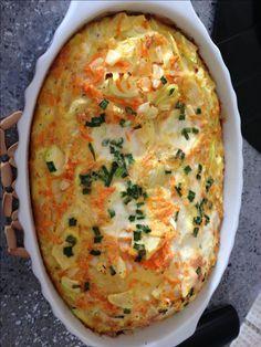 Aprenda a preparar a receita de Ometele light de forno com abobrinha - Bavaresco