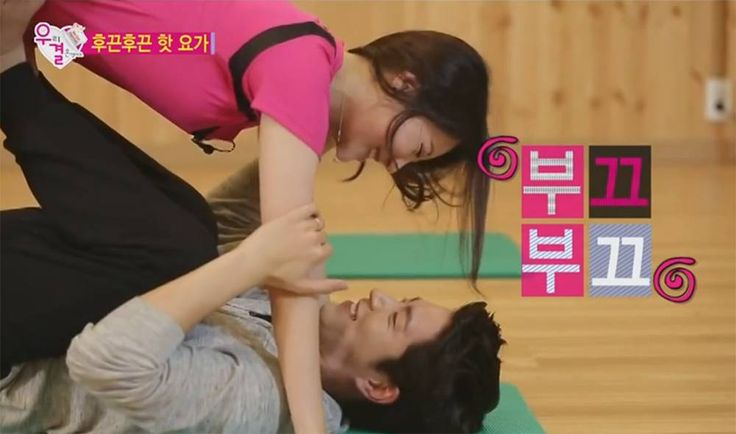 Hong Jong Hyun and Girl's Day's Yura get together for partner yoga session on 'We Got Married' | http://www.allkpop.com/article/2014/11/hong-jong-hyun-and-girls-days-yura-get-together-for-partner-yoga-session-on-we-got-married
