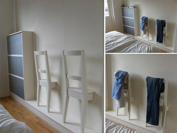 Gli appendiabiti da muro fai da te per la camera da letto: