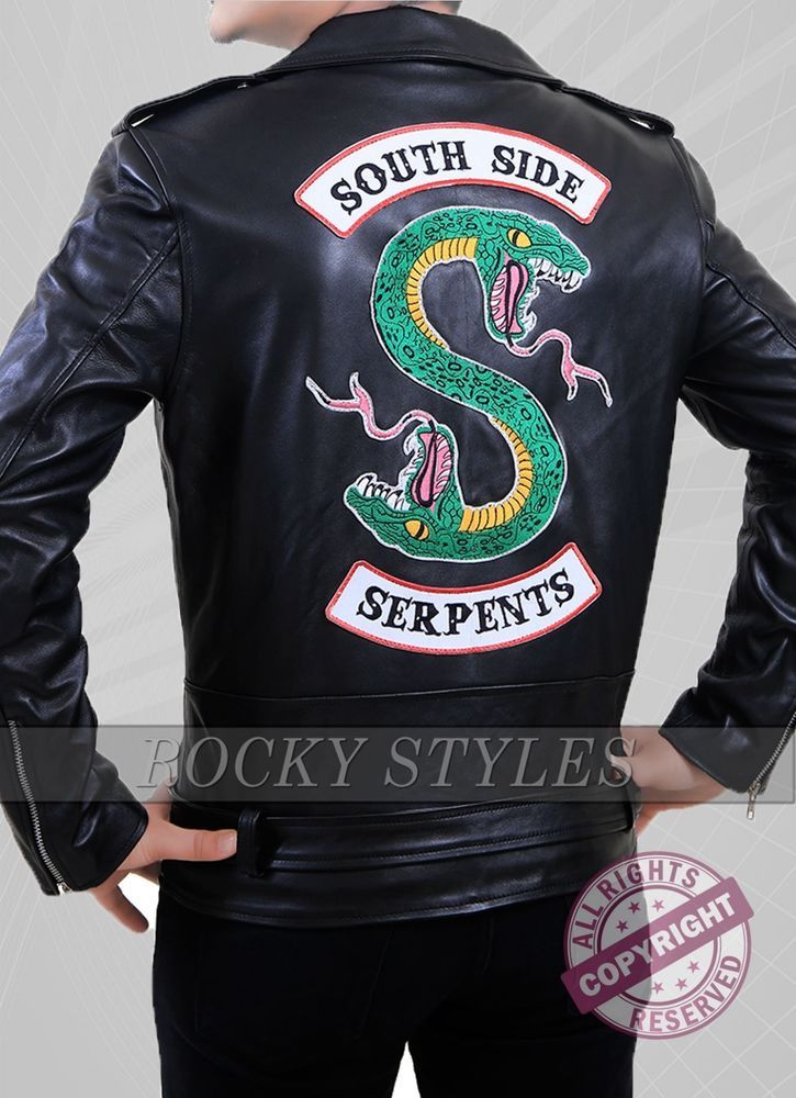 67fc28fe Riverdale Southside Serpents Leather Jacket. Get this premium quality  Southside Serpents Leather Jacket from the famous TV series
