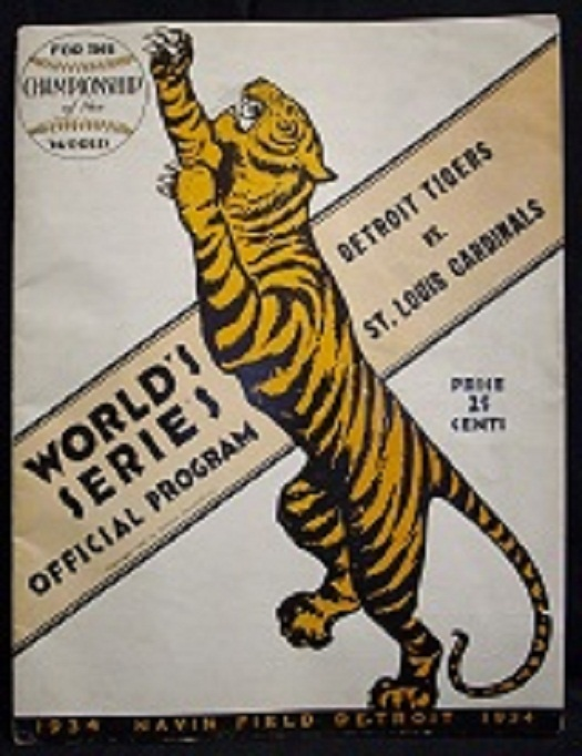 Vintage 1930's Tigers World Series Program $400.00 @www.timewarp-vintage.com