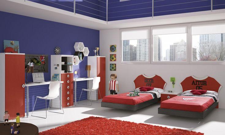 Habitaciones Juveniles Decoradas En Rojo ~ Futbol and Deporte on Pinterest