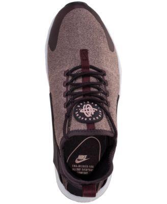 Nike Women's Air Huarache Run Ultra Se Running Sneakers from Finish Line - Red 8