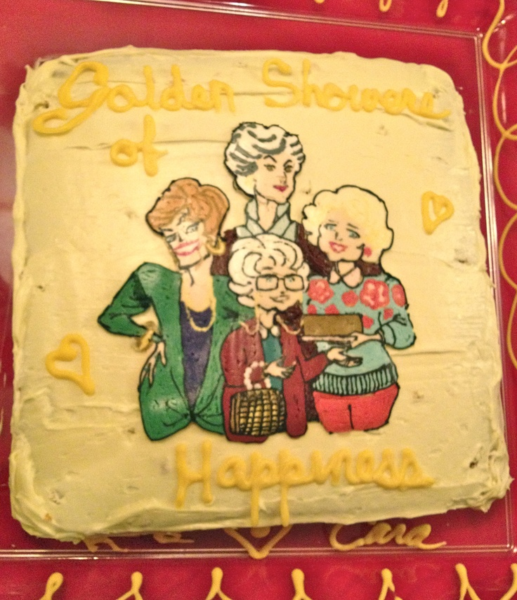 My awesome Golden Girls bridal shower cake. Thank god the older ladies don't have access to Urban Dictionary :)