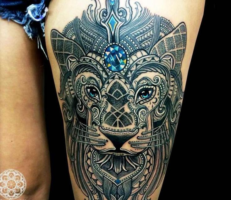 Mosaic Tiger tattoo by Coen Mitchell