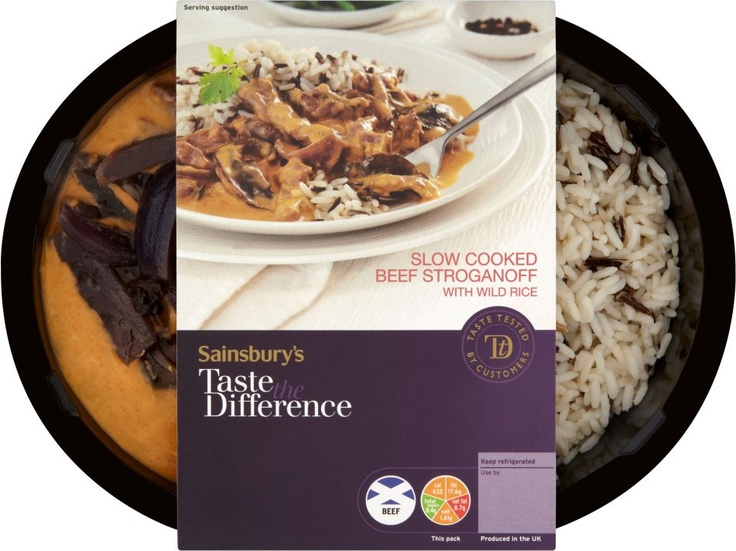 Sainsburys taste the difference beef stroganoff rice