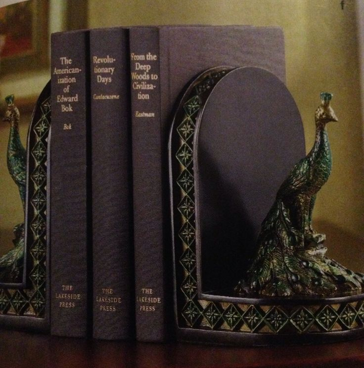 $19:95...Peacock Bookends