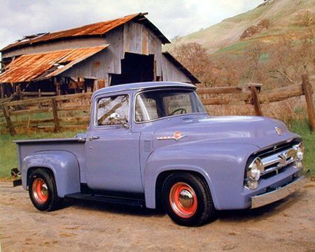 A Periwinkle Pick-Up- I want one!!!!! It would make antiquing that much more fun!