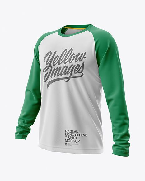 Free Sports Mockups Mens Raglan Long Sleeve T-Shirt Jersey ...