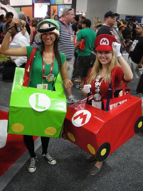 more mario kart costumes con 2011 mario luigi mario kart - Girl Mario And Luigi Halloween Costumes