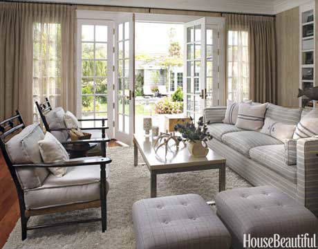 """Neutral Gray Trends for 2015  """"Gray is definitely the hottest neutral these days—it sets the perfect backdrop. I love combining soft gray walls with dark charcoal doors and a pale, grayish-white ceiling. One of my favorite paint colors is """"Repose Gray"""" by Sherwin Williams."""""""