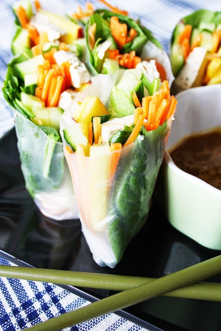 Yogi Dietitian: Veggie Rice Paper Rolls