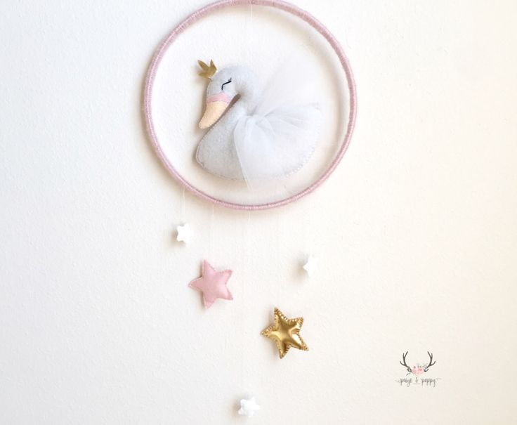 Baby Mobile - Swan Nursery Decor - Swan Baby Mobile - Baby Girl Mobile - Swan Nursery - Swan Baby Decor - Blush Pink Decor - Gold Nursery by PaigeAndPoppy on Etsy https://www.etsy.com/listing/490738186/baby-mobile-swan-nursery-decor-swan-baby