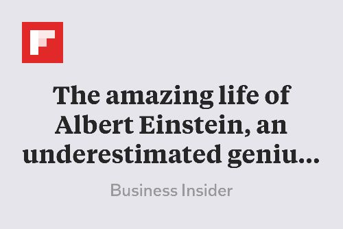 The amazing life of Albert Einstein, an underestimated genius whose childhood nickname was 'the dopey one' http://flip.it/TGDDg