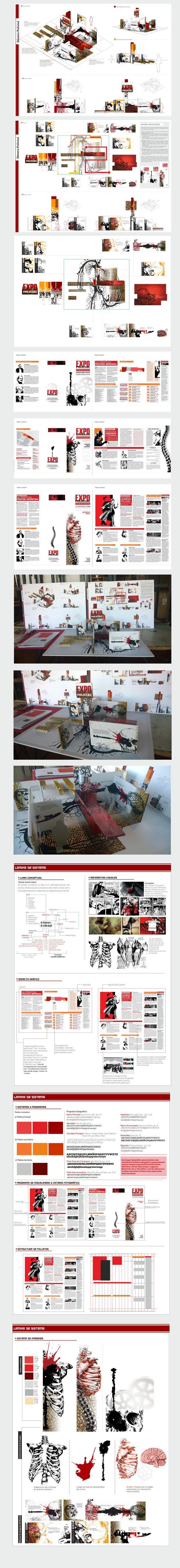 Diseño en el espacio y editorial Stand  de género literario policial / Diseño II / Catedra Mazzeo