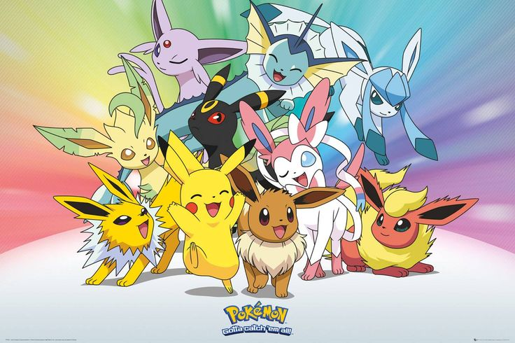 #Pokemon Eevee Maxi Poster #Branded Posters featuring Pokemon. (Barcode EAN=5028486361649)