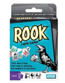 HSB02104 Rook It's a great deal of fun for you and your friends. Grab a partner and get ready to play. #Rook is all about being the first team to reach 300 points by bidding and naming tricks. Our Price: S$16.90