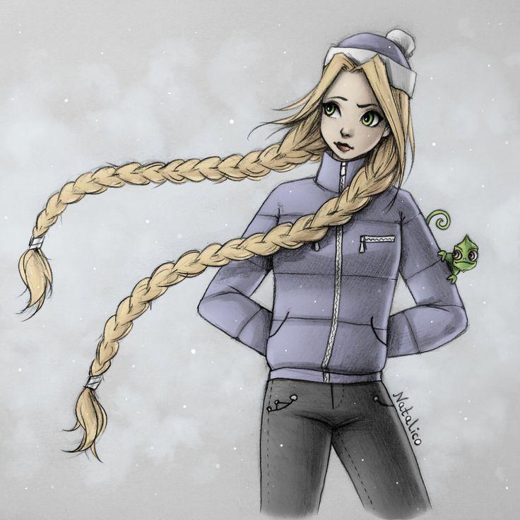 Rapunzel in winter by natalico on @DeviantArt