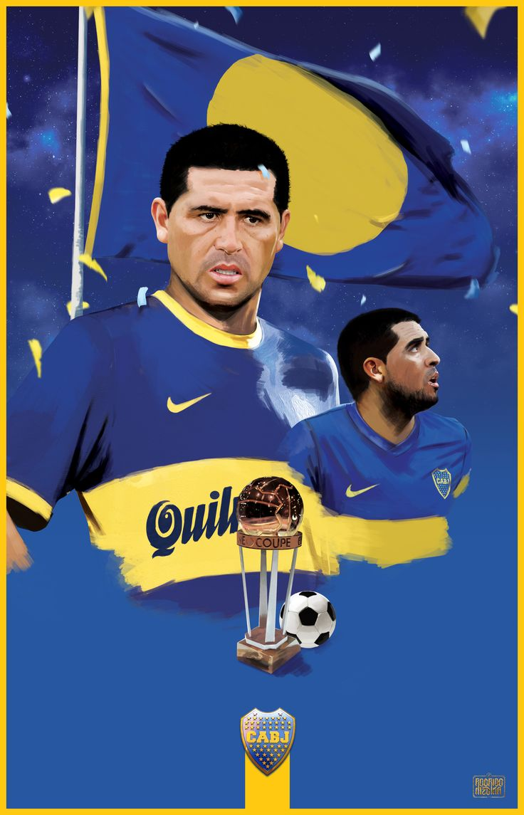 Ilustration of Juan Román Riquelme, Solo Boca Magazine from Argentina.
