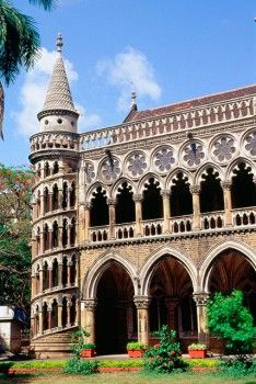 Library building in Venetian Gothic style of University. Mumbai,India.