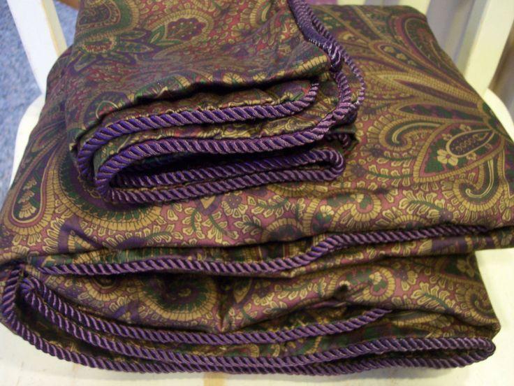 Ralph lauren new bohemian paisley queen duvet (comforter ...
