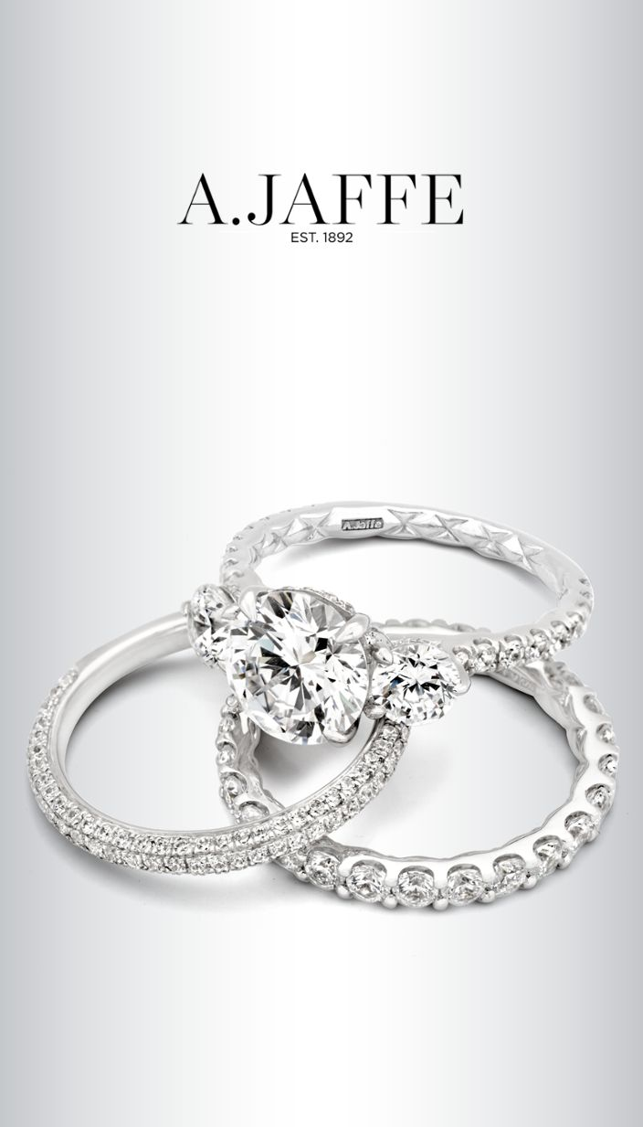 jaffe quilted collection engagement rings and wedding band see them